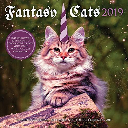 - Fantasy Cats 2019: 16-Month Calendar - September 2018 through December 2019
