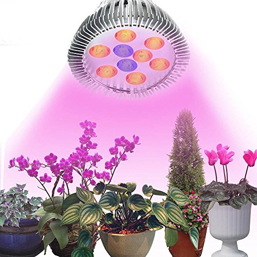BJ.PowerPlant Light, 15W Plant LED Grow Light E27 Growing Bulbs for Garden Greenhouse and Hydroponic 3 Bands Plant Light for Fruits and Flowers Light Full Spectrum Growing Lamps(12 Red : 3 Blue)