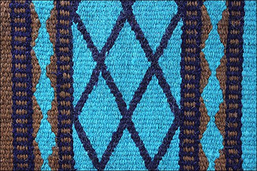 Hilason Show New Zealand Wool Saddle Blanket Western Rodeo Brown Turquoise