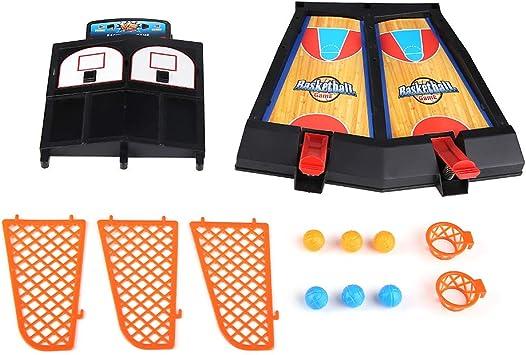Zerodis Mini Dedo Baloncesto Juego de Tiro Juegos de Baloncesto de Mesa Juego de Mesa Interactivo de Pinball Divertido Tablero Minibasket: Amazon.es: Juguetes y juegos
