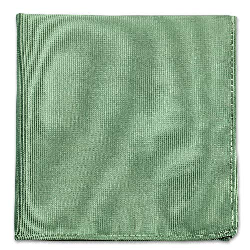 - Seafoam Green Pocket Squares For Men - Mens Woven Pocket Square Tuxedo Wedding Solid Color Formal Handkerchiefs