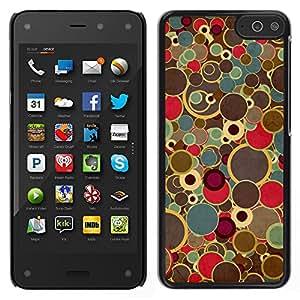 LECELL--Funda protectora / Cubierta / Piel For Amazon Fire Phone -- Pintura del arte retro puntos Spots Colores vintage --