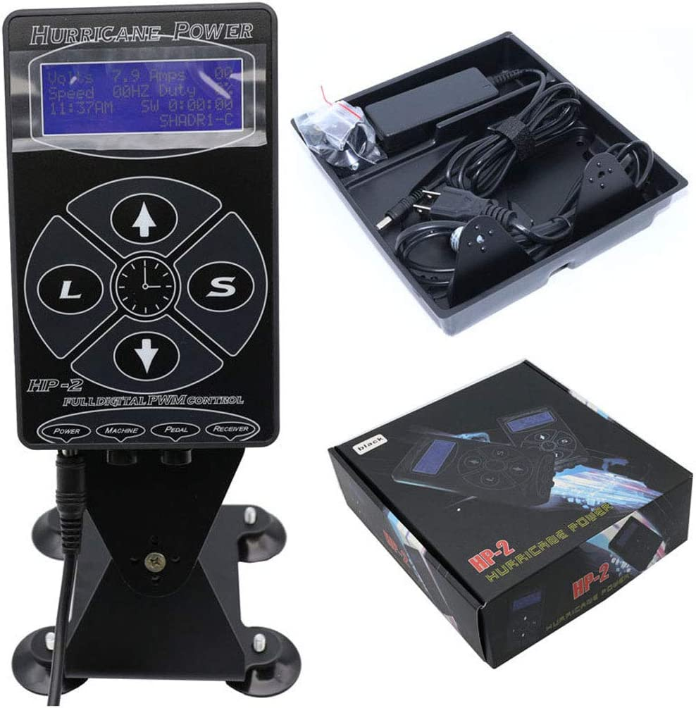 IUUH Tattoo Power Hurricane Digital Set Unidad De Pantalla LCD Universal Pad Shader