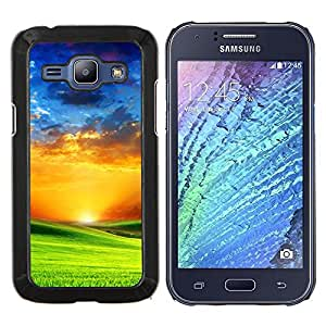 Stuss Case / Funda Carcasa protectora - Vibrante Saturada Naranja Azul Verde - Samsung Galaxy J1 J100