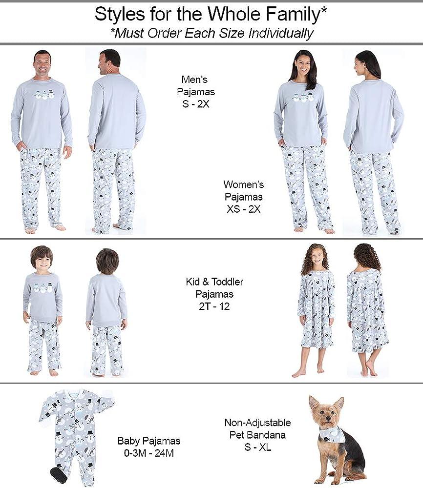 Fleece PJ Sets SleepytimePJs Matching Family Christmas Pajama Sets