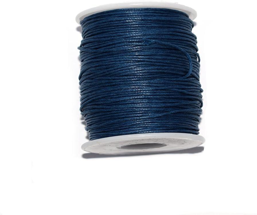 EDGEAM Cordon de Coton Cir/é Pour la Fabrication de Bijoux Bracelet de Collier de Bricolage 1 MM, Multicolore