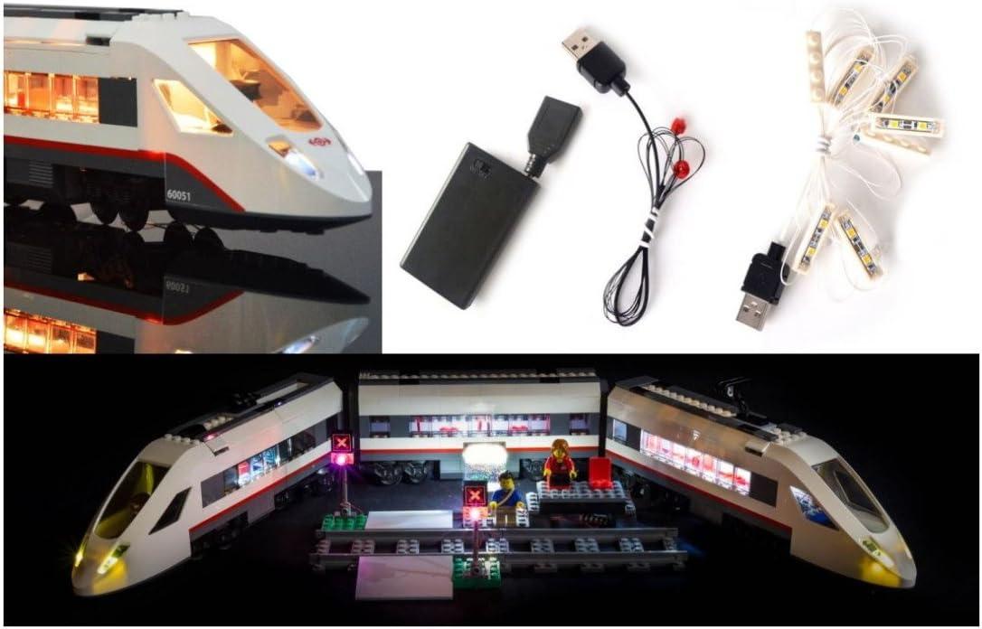 LED Light Up Kit para trenes lego. kit de luz lego Led luces de lego luces lego Bloques de construcción Tren locomotora Luces del tren Lego Compatible con Lego