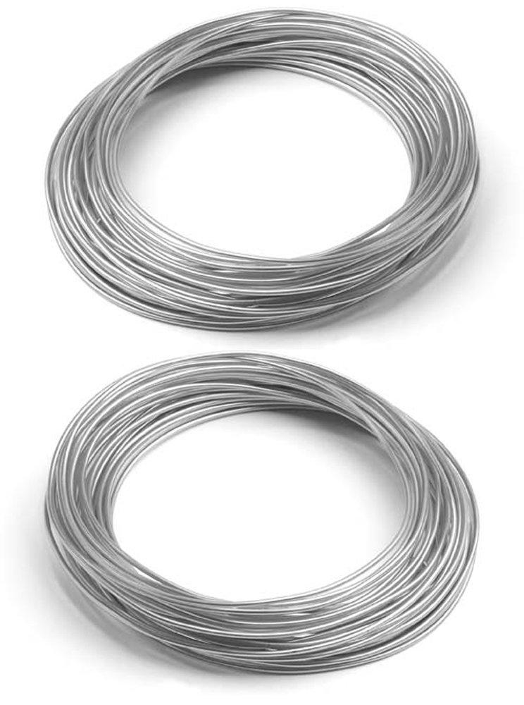 Amazon.com: Oasis Aluminum Wire - Silver- 12-gauge - Decorative Wire ...