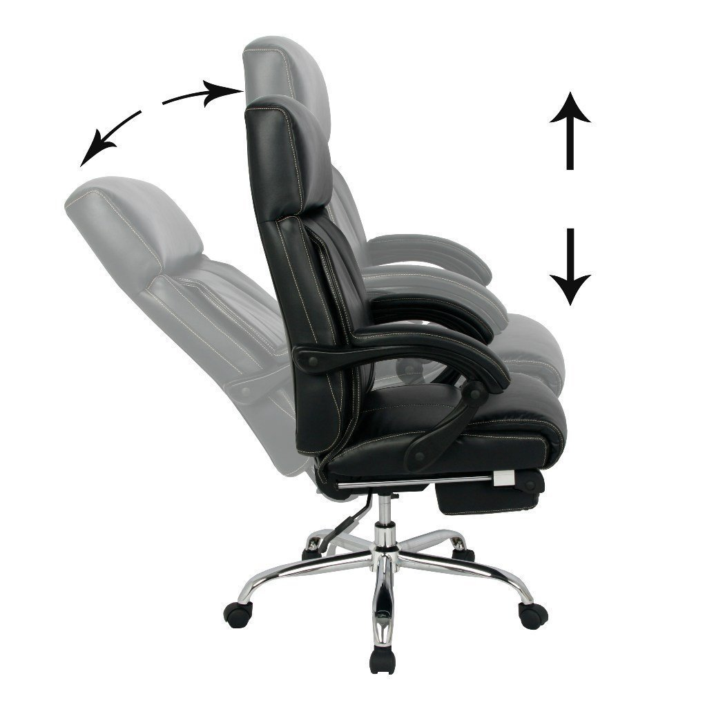 office reclining chairs. amazoncom viva office reclining office chair high back bonded leather with footrest viva08501 kitchen u0026 dining chairs