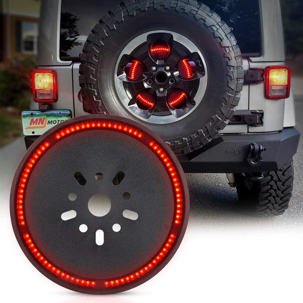 3rd Third Brake Wheel Light LED Ring for Jeep Wrangler JK LJ YJ CJ 2007-2017 MNJ MOTOR Spare Tire Brake Light