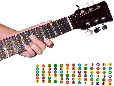 Trastes para Guitarra Fretboard Nota Etiqueta Pegatinas ...