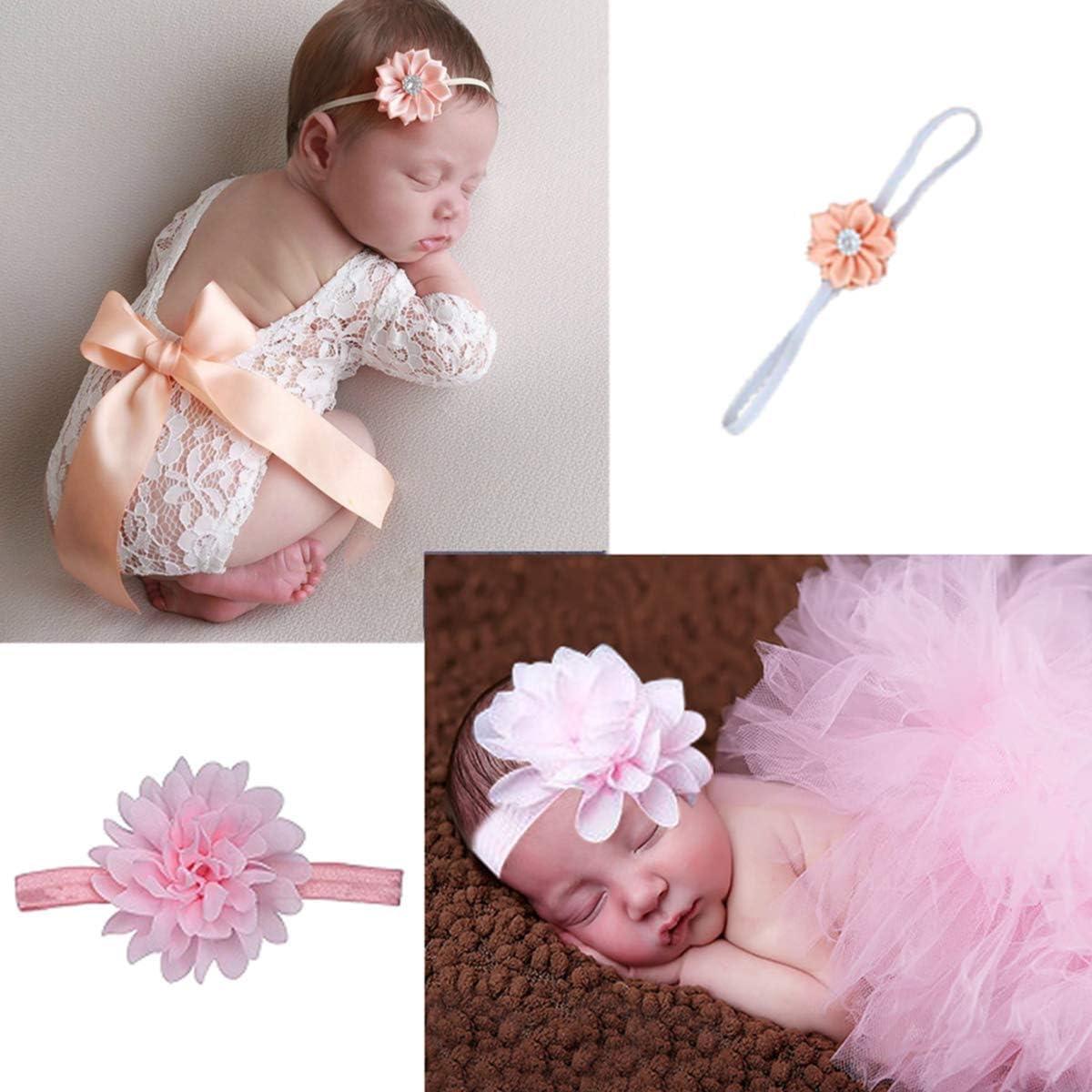 Newborn Baby Kid Girl Flower Headband+Tutu Skirt Photo Costume NtNtH cd/_91