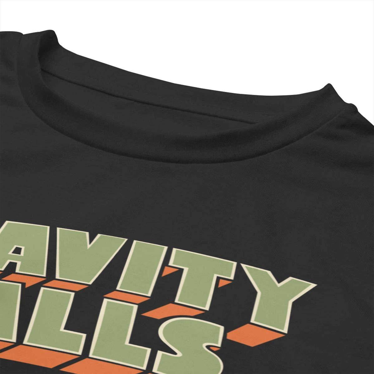 Chouven Women Crop Top Gravity Falls Logo Round Neck Short Sleeve T Shirts