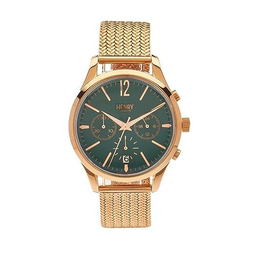 Henry de Londres Unisex Reloj de Pulsera Stratford Cronógrafo Cuarzo de Acero Inoxidable hl39 cm 0142