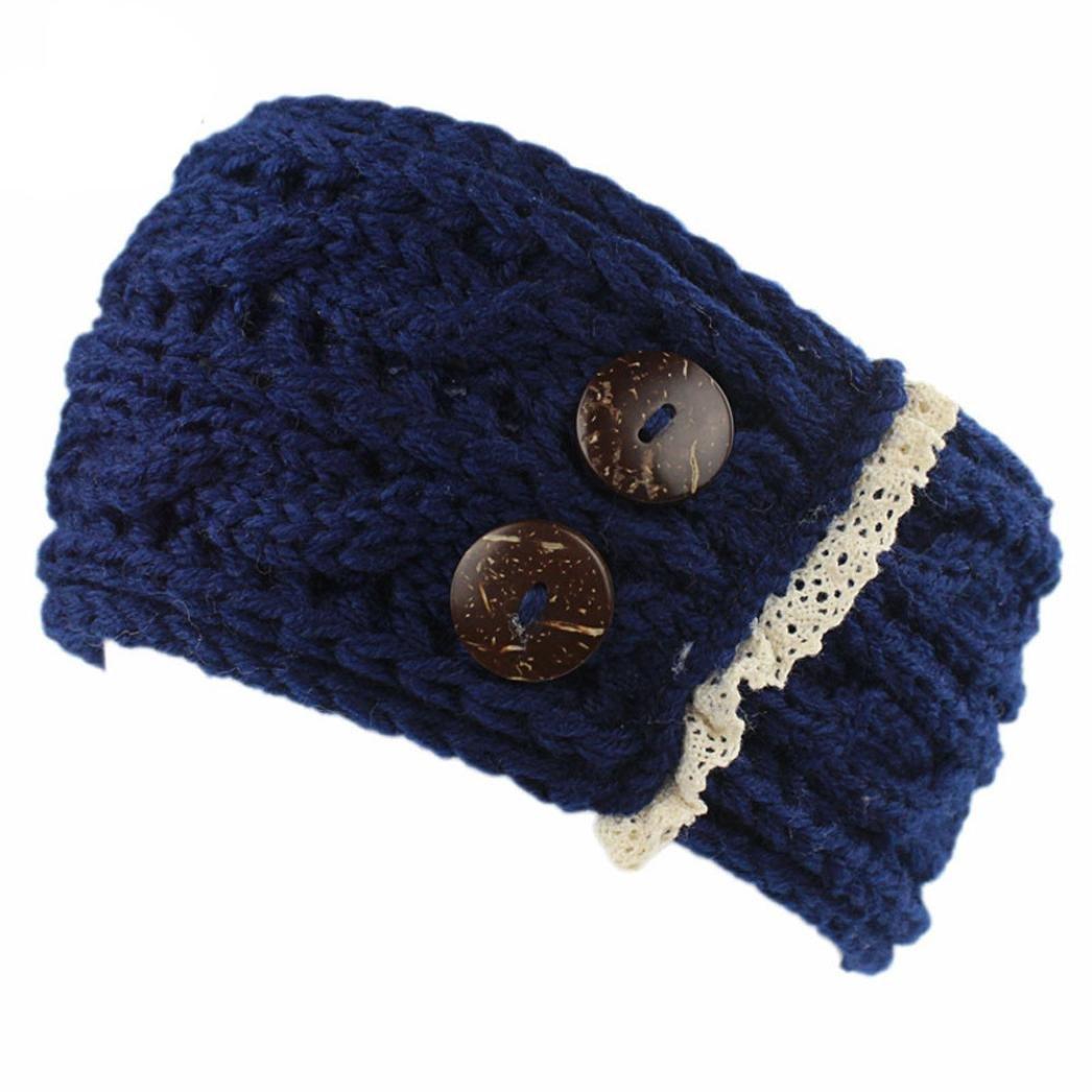Omiky® Damen häkeln gestrickte geflochten stricken Wollmütze Cap Stirnband Haarband