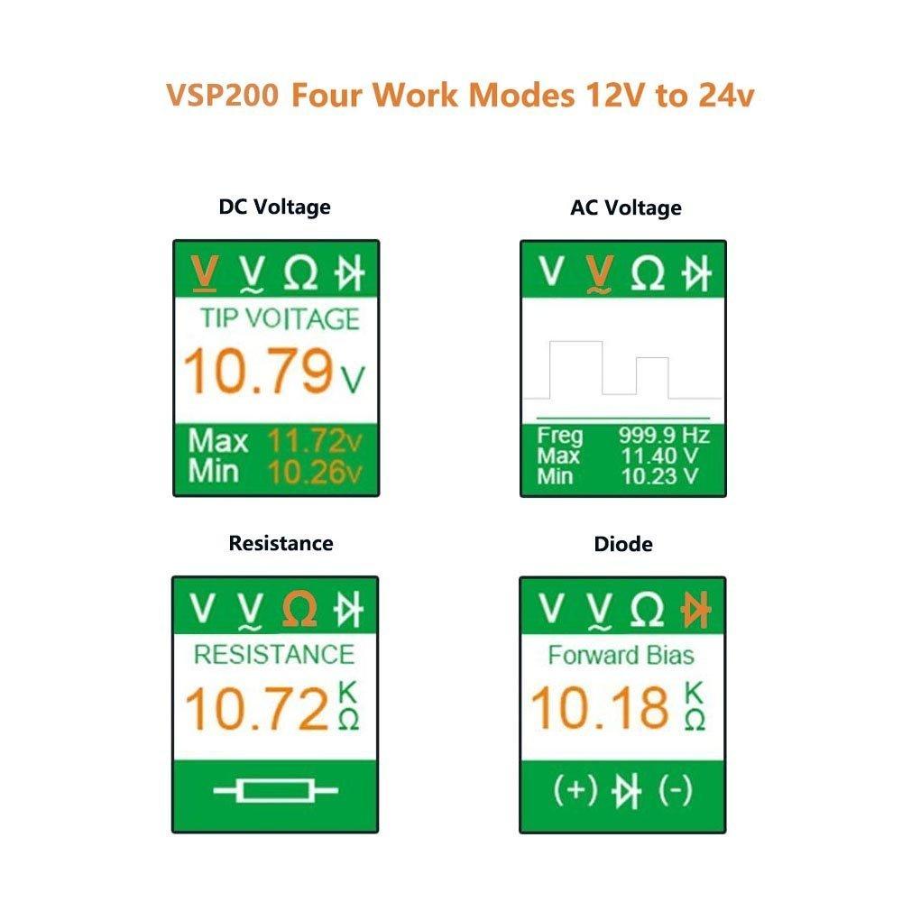 VXDAS VSP200 Circuit Tester Kit Automotive Voltage Tester Power Auto Electrical Circuit Tester Probe by VXDAS (Image #2)