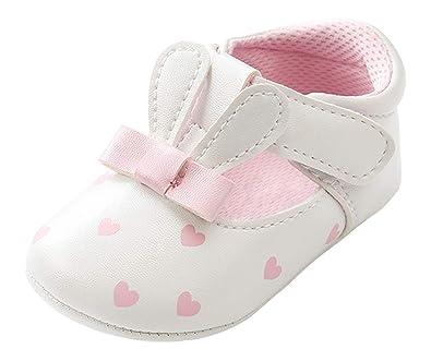 0d900945ac1d5 Cloud Kids Chaussures Premiers Pas Bébé Fille 0-18 Mois Forme Lapin Pois  Cœur Baskets