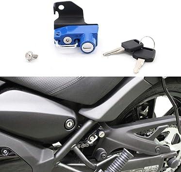 GUAIMI Motorcycle Anti-theft Helmet Lock Left Side for Kawasaki Z 650 Ninja 650 2017-2019-Green