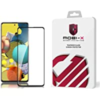 5D Glass Screen Protector For Samsung Galaxy A72 - Black Frame By Mobi X
