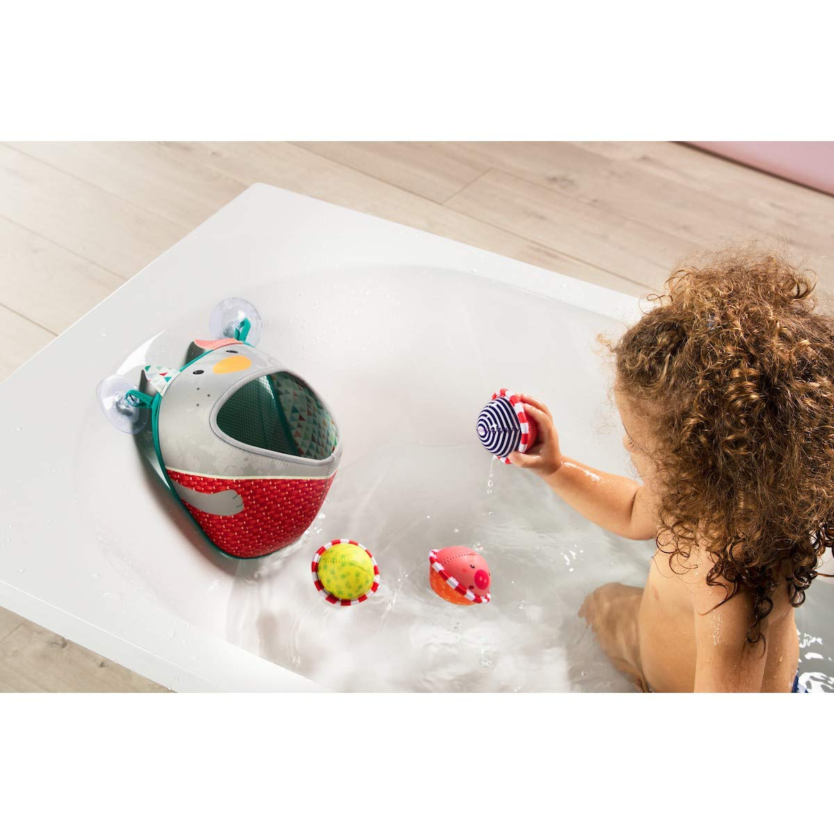 LILLIPUTIENS - Cesta de baño Nicolas - L-83044: Amazon.es: Juguetes y juegos