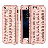 iPhone 6 Plus/6S Plus Case, Hybrid Heavy Duty Shockproof Full-Body Protective Case with Dual Layer [Hard PC+ Soft Silicone] Impact Protection for Apple iPhone 6S Plus 5.5 inch. (New Rosegold)