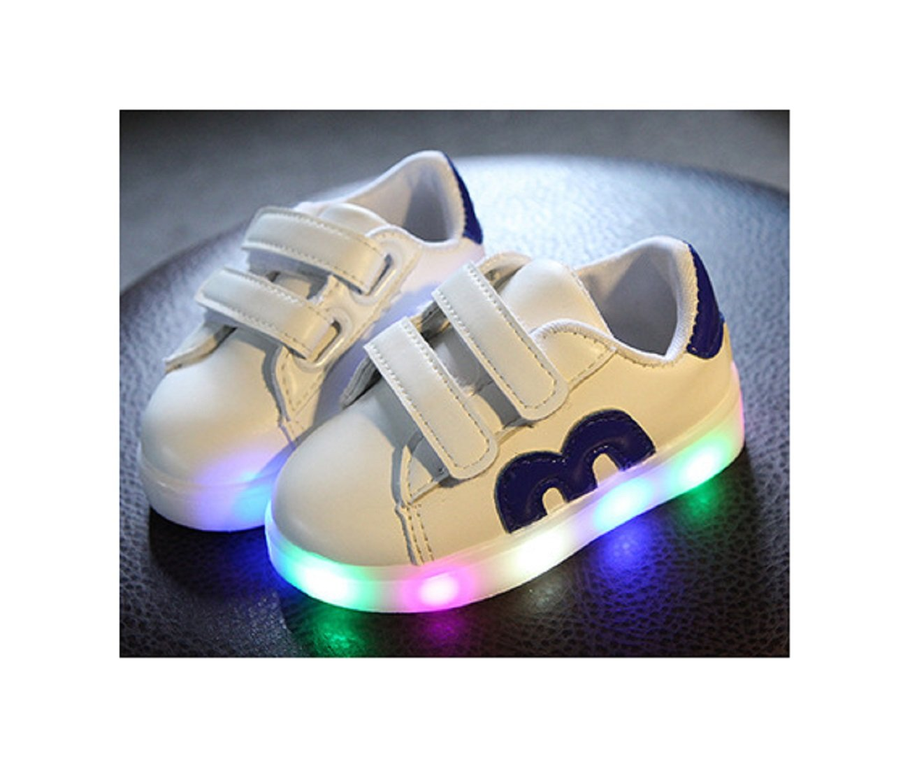 Kids Shoes 2017 With Light Boys Girls Sports Shoes LED Lighted Flash Male Female Sneakers Baby Fashion Sneakers Shining Boots 11, Blue