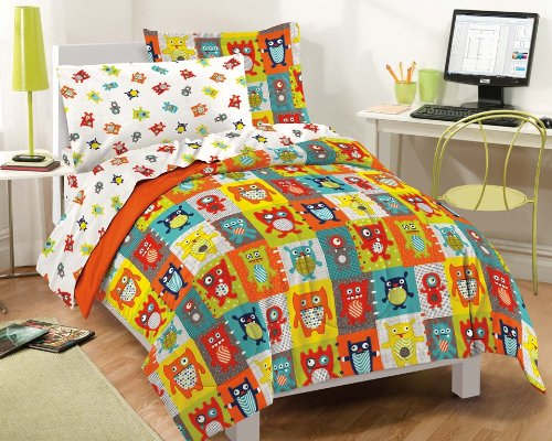 Dream Factory Silly Monsters Ultra Soft Microfiber Comforter