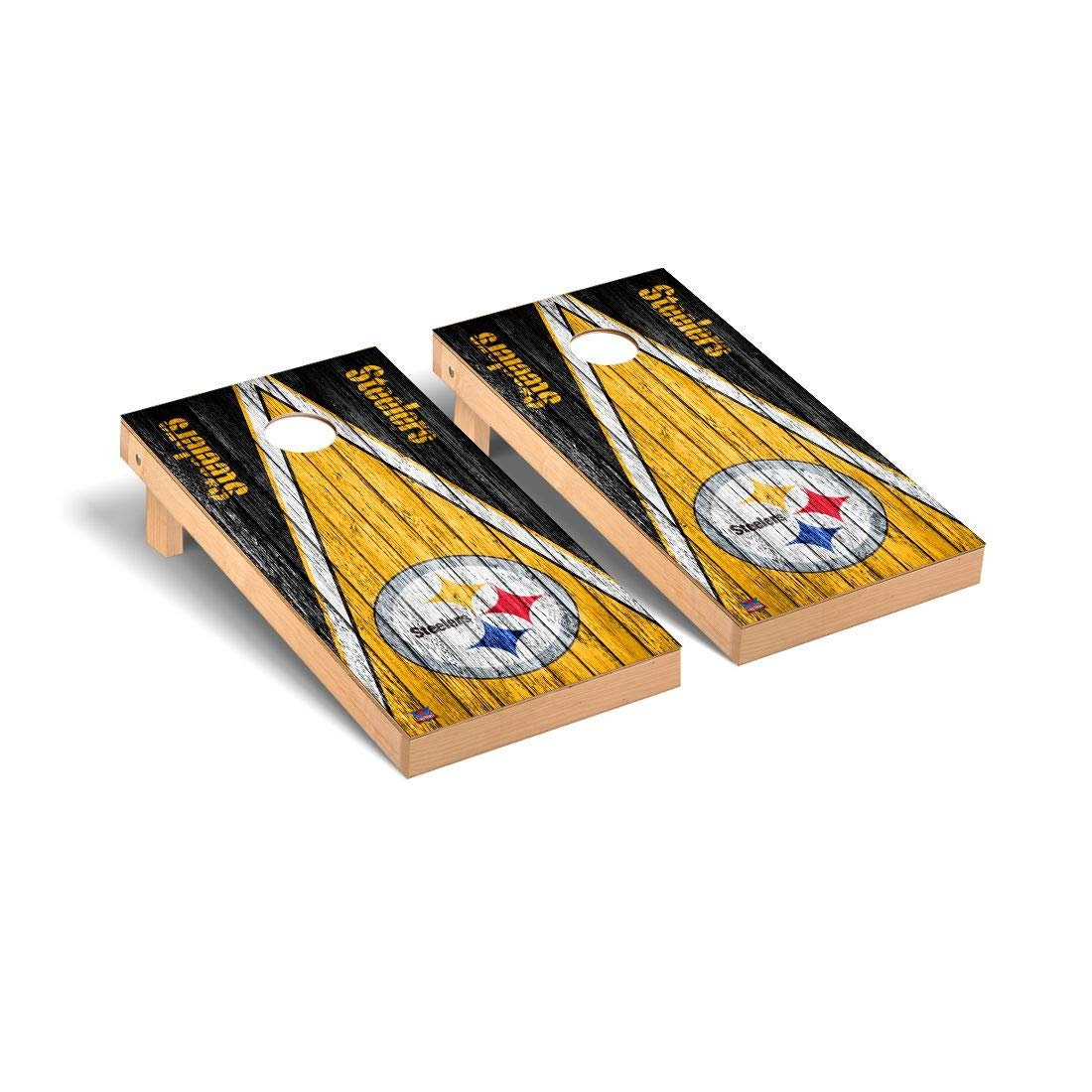 NFL Pittsburgh Steelers風化三角形バージョンFootball Corn穴ゲームセット、1サイズ   B01N1YIAP6