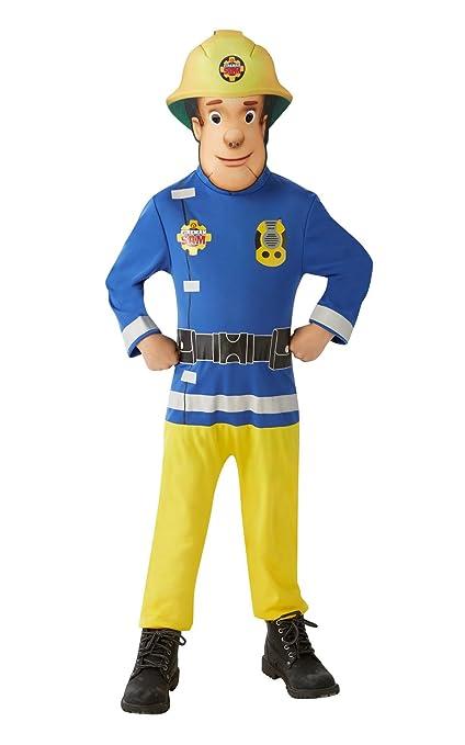 Sam El Bombero - Disfraz Sam El Bombero para niños, talla 5-7 años (Rubies 620779-M)