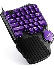 MAD GIGA Tastiera da Gioco Una Mano, Mechanical Gaming Keyboard con Interrutore Rosso Meccanico,Compatibile con Games Apex/Dota/Rainbow 6/PUBG ECC.