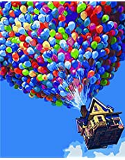 Komking Paint by Numbers for Adults, DIY Painting Paint by Numbers Kits on Canvas, Colorful Balloon 16x20inch