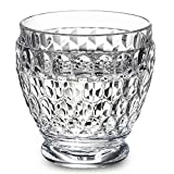 Boston Clear Shot Glass Set of 4 by Villeroy & Boch - Premium Crystal Glass - Made in Germany - Dishwasher Safe - Vintage Textured Pattern - 2.5 Ounce Capacity