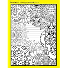 Coloring Notebook (yellow): Therapeutic notebook for writing, journaling, and note-taking with designs for inner peace, calm, and focus (100 pages, ... and stress-relief while writing.) (Volume 7)