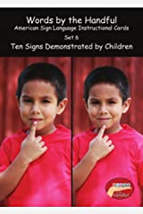 American Sign Language / Baby Sign Language Cards - Ten Signs Demonstrated By Children. Set 6 Cards