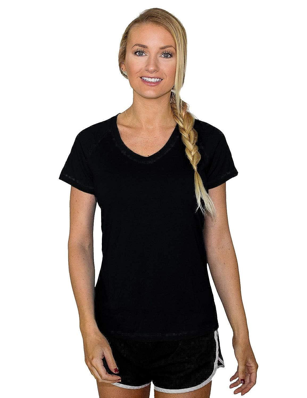 Black Woolx Mia Tee  Merino Wool TShirt for Women  Lightweight  Wicks Moisture  Repels Odor
