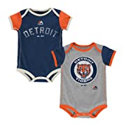 Detroit Tigers Vintage Baby/Infant Go Team 2 Piece Creeper Set 24 Months