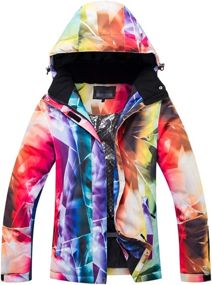 女性のカラフルなスキージャケットとズボンセット 女性ジャケットウィンターコートアウトドアスポーツスキージャケットS-XL 防風 (色 : 902, サイズ : S)  Small