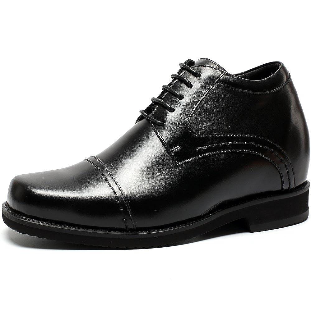 CHAMARIPA Aufzug Männer Schuhe Höhe Zunehmende Leder Schnürung Schwarz Invisible inch-H71V19K021D Heel Schuhe Teller 3,94 inch-H71V19K021D Invisible schwarz 5eb982