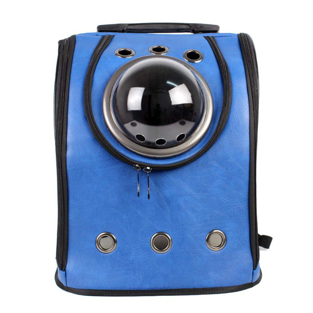Maerye Pet Backpack Breathable pu Out Portable Double Shoulder cat Bag Dog Bag pet Transport Bag Suitable for 4-6 kg or so Dog