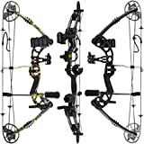 RAPTOR Compound Hunting Bow Kit: LIMBS MADE IN USA | Fully adjustable 24.5-31 Draw 30-70 LB pull | Up to 315 FPS | WARRANTY &