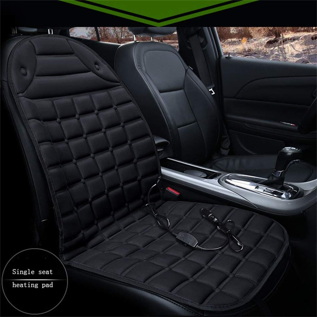 Black Heated Car Seat, 12v Heated Car Seat Cover Winter Warmer Auto Seat Heater, Constant Temperature Predection Function, for Car, Home, Office