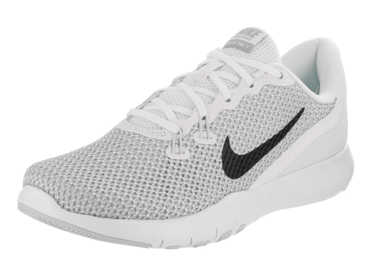Nike Women's Flex Trainer 5 Shoe B01LPGORVA 10 M US|White/Metallic Silver-pure Platinum