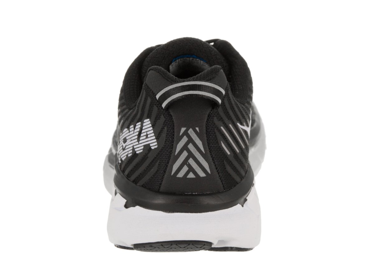 HOKA ONE ONE Women's Clifton 5 Running Shoe B0788ZH3MS 9.5 B(M) US|Black/White