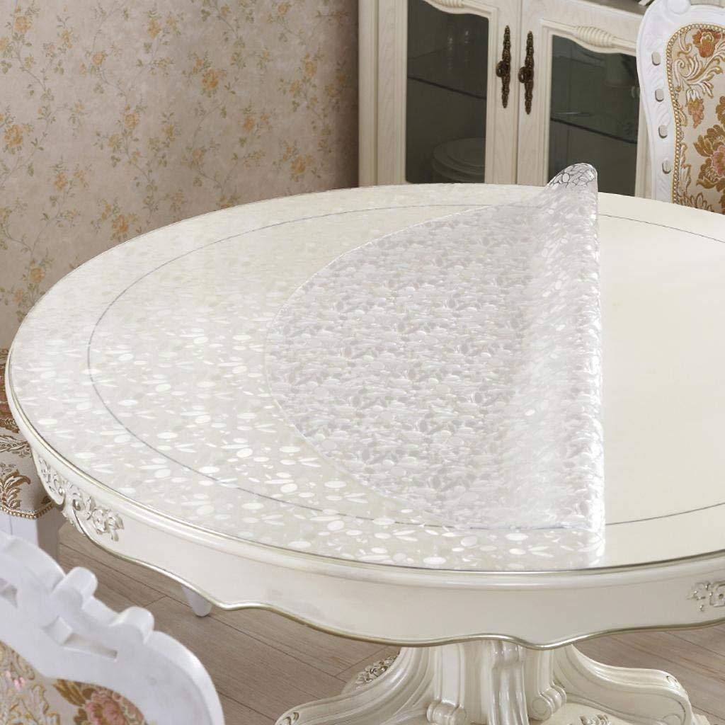 echa un vistazo a los más baratos MARCU Home PVC Mantel rojoondo Mesa de de de Cristal Suave Mesa rojoonda Impermeable Mantel rojoondo Anti - Aceite Anti - esteras de té Calientes, 1, 100cm  más orden
