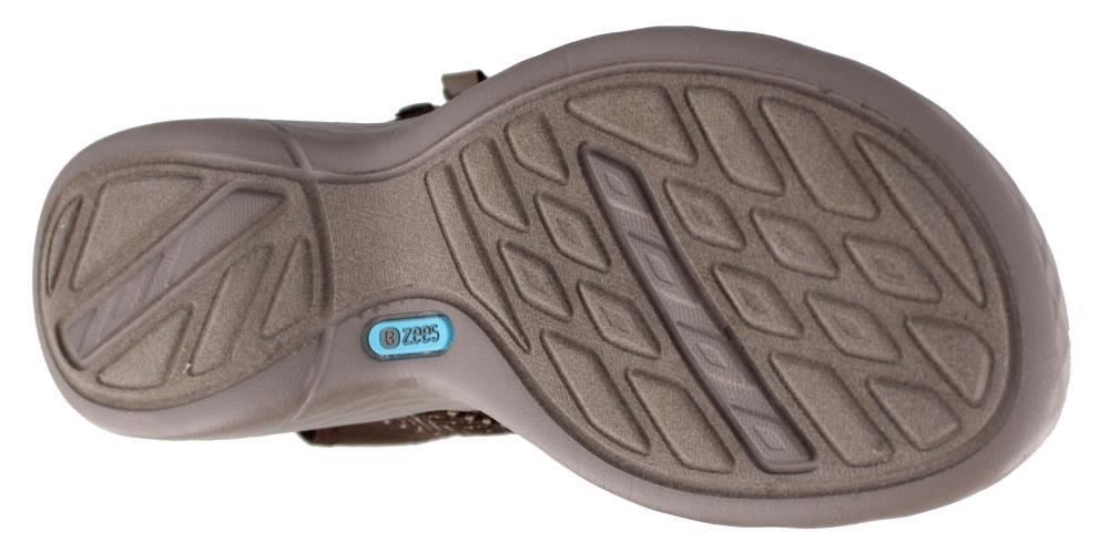 BZees Women's Jive Sport Sandal B07212WSKR 8.5 W US|Brown