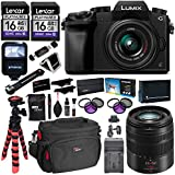 Panasonic LUMIX DMC-G7KK DSLM 4K Camera (Black), 14-42 mm, G Vario 45-150mm, F4.0-5.6 ASPH Lens Kit, 16GB 2 Pack, Tripod, Camera Bag, Cleaning Kit, Filter Kit, Battery, Charger and Accessory Bundle