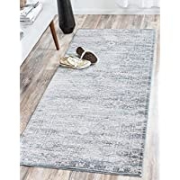 Unique Loom Kensington Collection Blue 3 x 6 Runner Area Rug (2 7 x 6)
