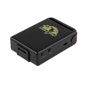 Kamtop Mini Localizador GPS para Coche TK102 Rastreador GPS GPRS Impermeable y Recargable con Cable USB