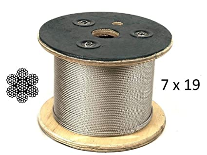 T316 Stainless Steel Cable 1 8 7x19 500 Ft Reel Extra Flexible Cable Amazon Com Industrial Scientific