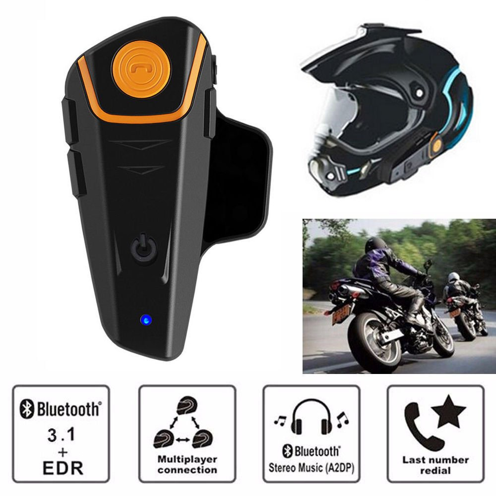 BT-S2 1000m Bluetooth Motorcycle Helmet Intercom Headset Interphone GPS FM Radio by Unknown
